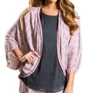 """Pj Salvage """"to dye for""""  woven challis kimono M"""
